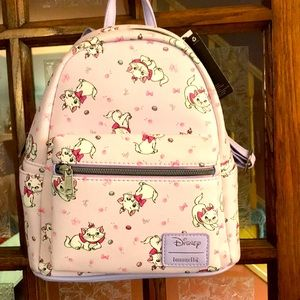 Disney Loungefly Marie lavender backpack NWT